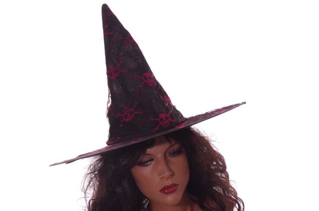 womens witch hat costume accessory black orange