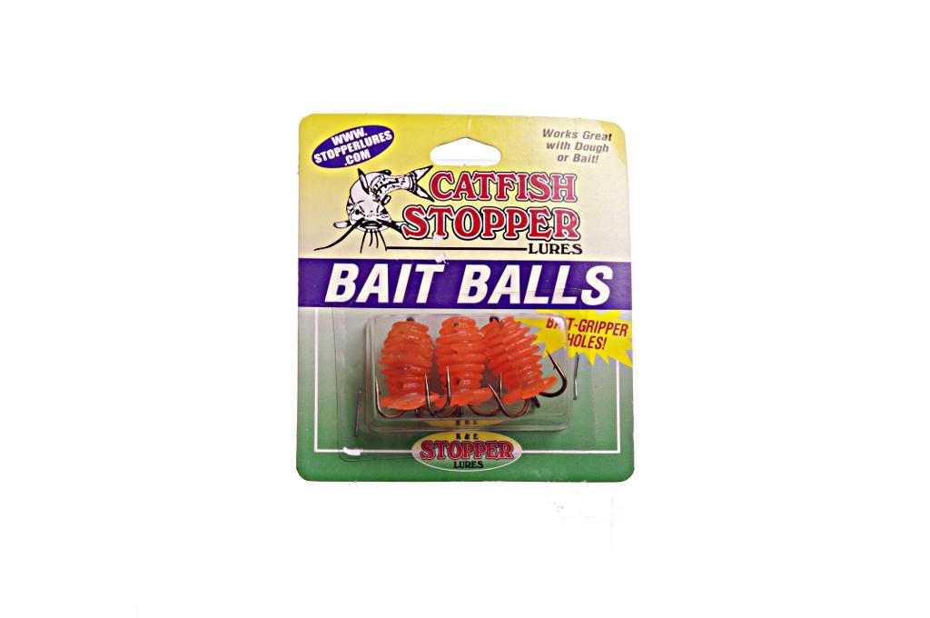 Orange catfish stopper fishing lures bait dough balls k e for Dough balls for fishing