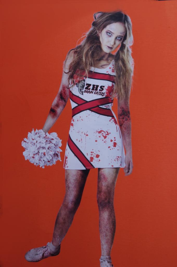 Teen junior zombie dead walking womens cheerleader halloween costume