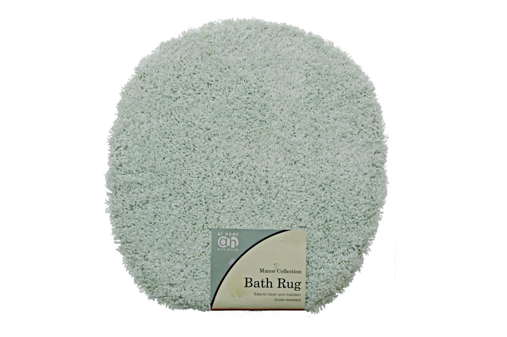Bathroom Toilet LID RUG Seat Cover Mint Green SEA Foam Kiwi Carpet Decor NEW