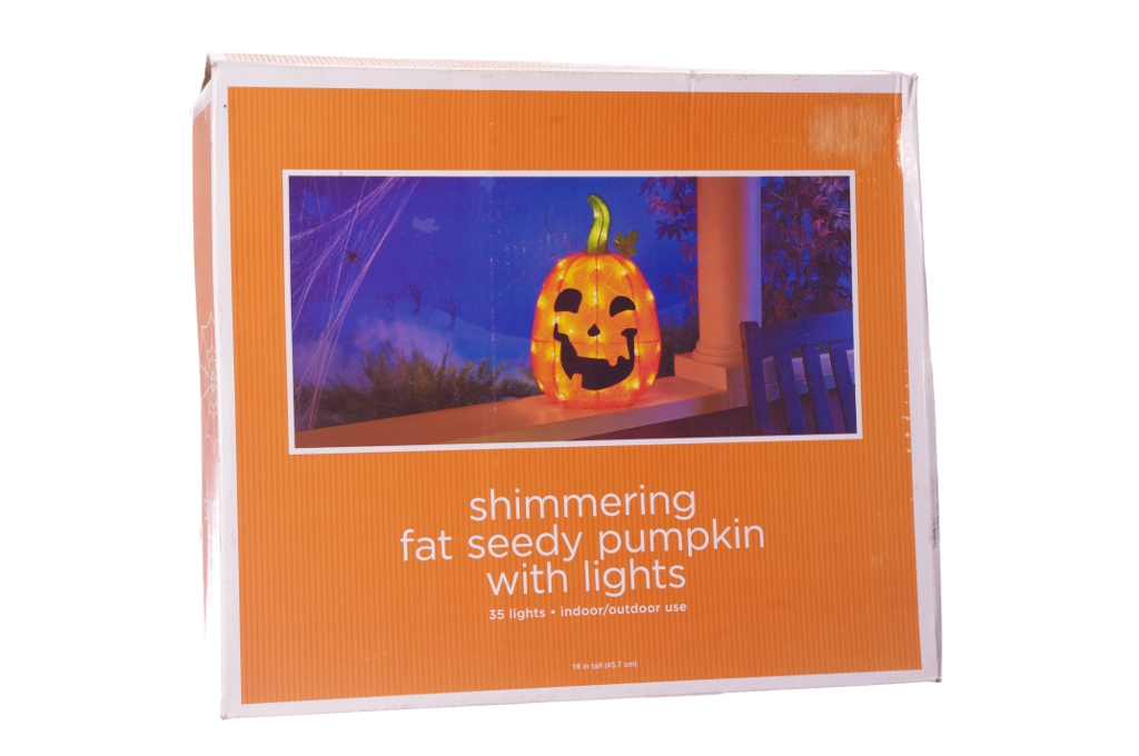 Orange Pumpkin Halloween Lawn Decoration Indoor Outdoor Light Jack O Lantern New