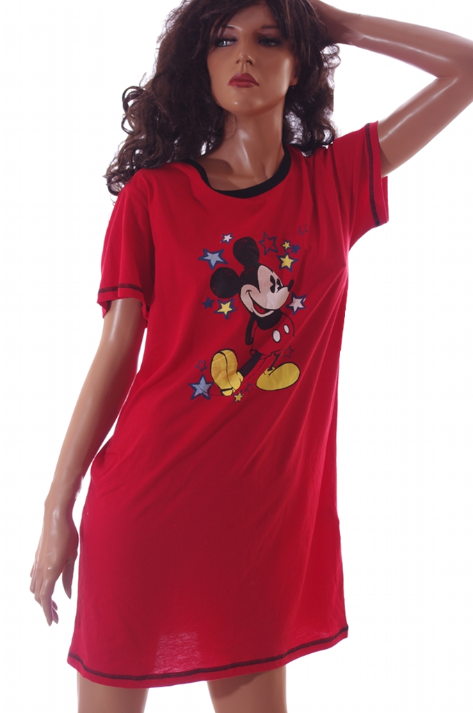 Mickey Mouse Womens Disney World Red Nightgown Night Shirt PJs Pajamas  Large New on PopScreen 51233e52b7