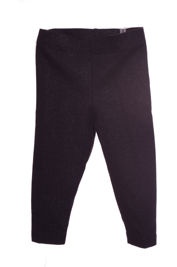 TCP Baby Girl's Stretch Pants Leggings Black Glitter Floral Pink 12 Months New