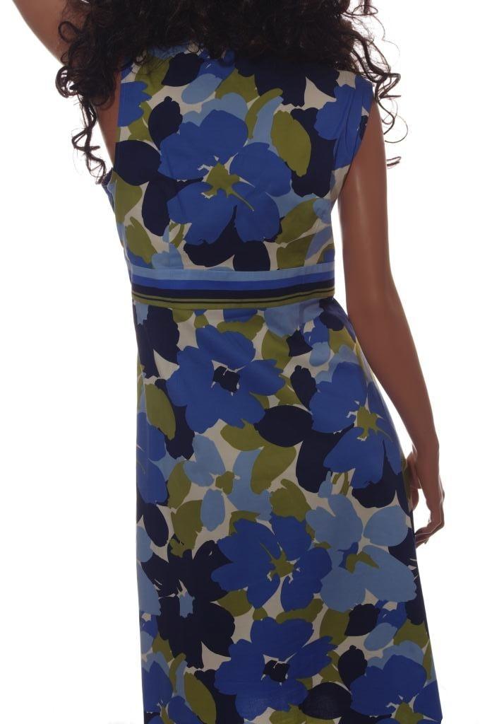 Womens Floral Romantic Dress Sleeveless Sundress Blue Pink 12 14 16 18 Plus New