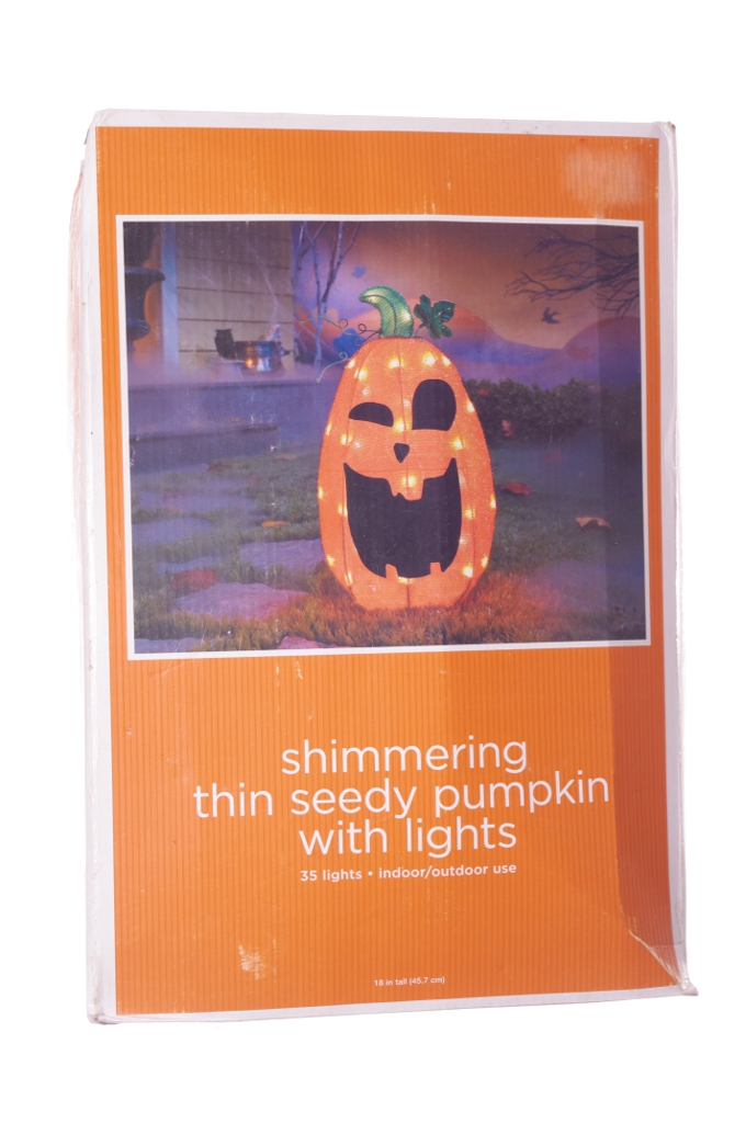 Orange Pumpkin Halloween Lawn Decoration Indoor Outdoor Lights Fall Harvest New