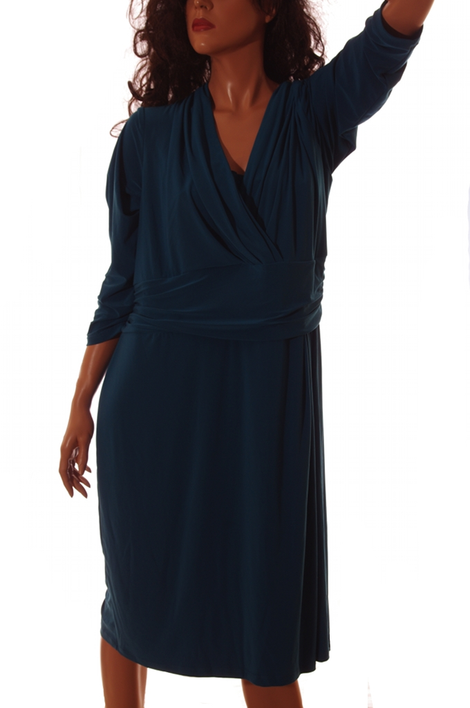 Chaps Ralph Lauren Womens Stretch Teal Dress Plus Size 18W 20W 2X 3X 4X New